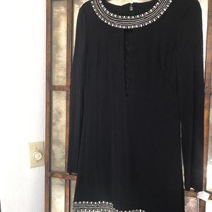Black Rhinestone Bebe Cocktail Dress